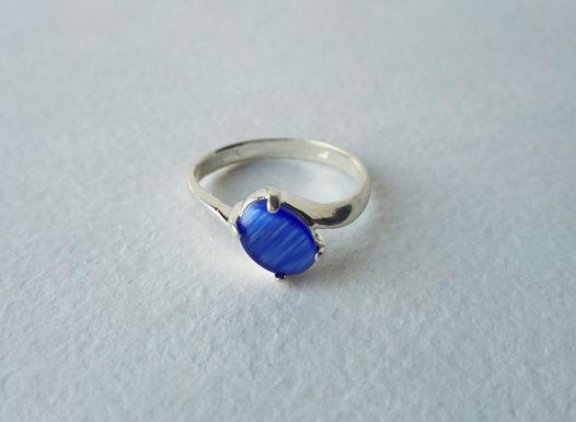 Кольцо с синим улекситом