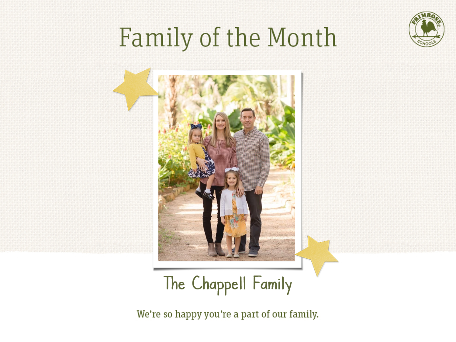 Chappell Family of the Month