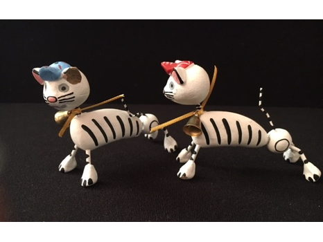 Abstract Cat Figurines