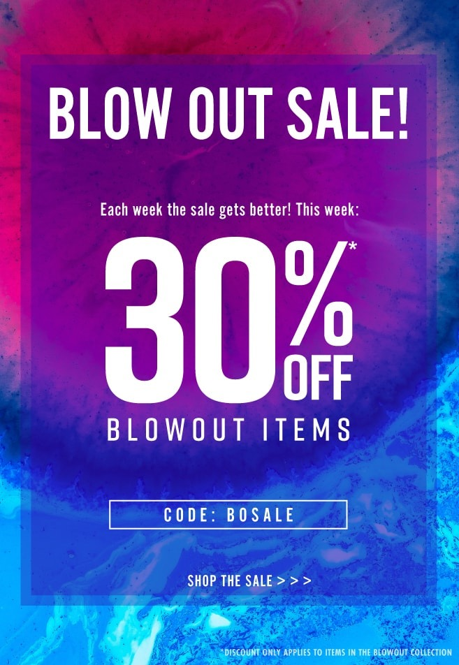 30% off blowout items