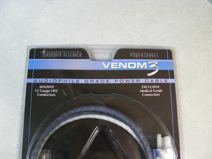 Shunyata Venom 3 (1.5M) 15AMP IEC Power Cable