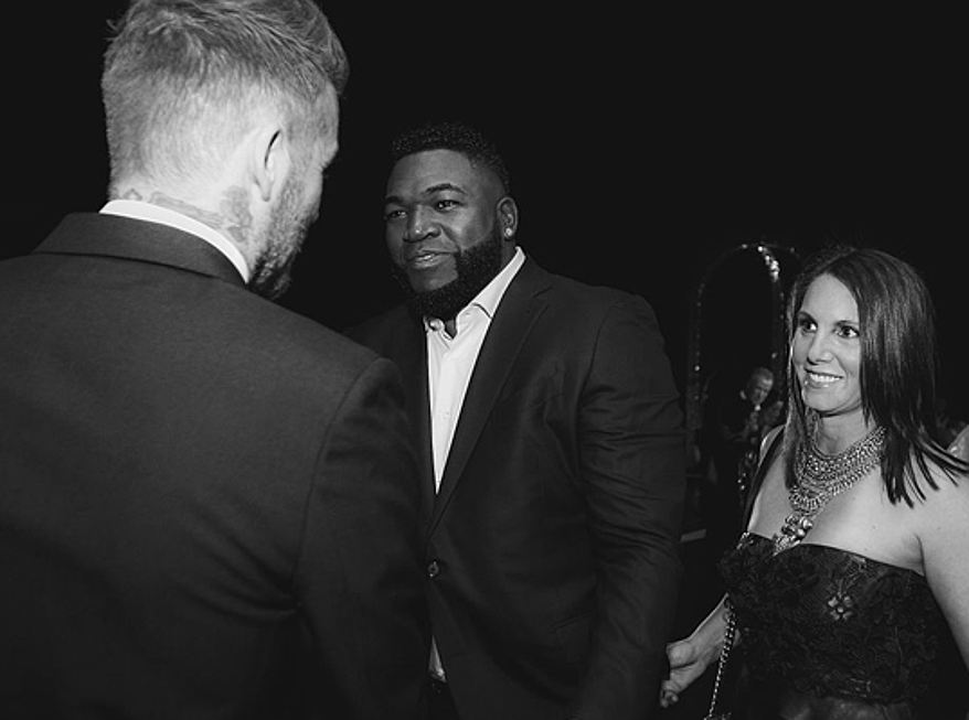 Sintra - Red Sox player David Ortiz with wife and David Beckham, © Infinite Creations
