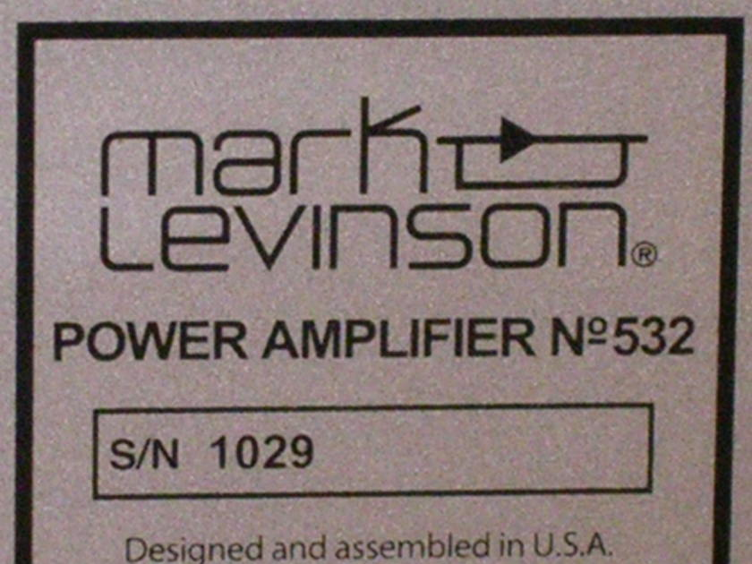 Mark Levinson No. 532 Dual Monaural amplifier