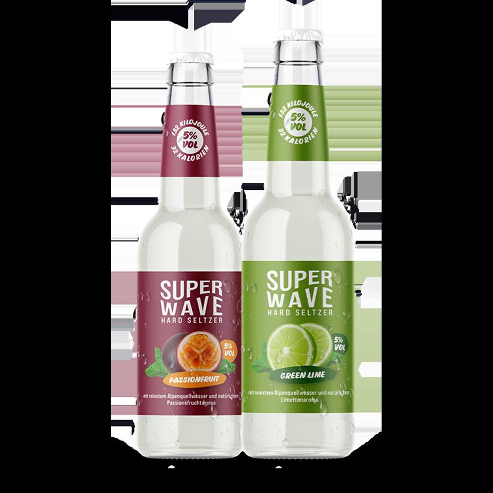 Superwave Passionfruit Green Lime Flaschen