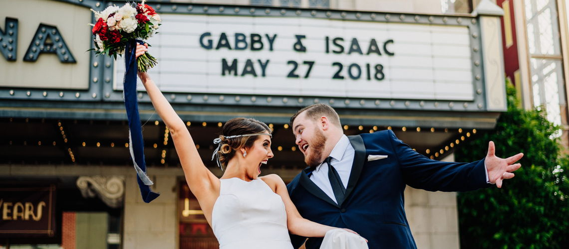 Theatre Couple with a Theatre Wedding