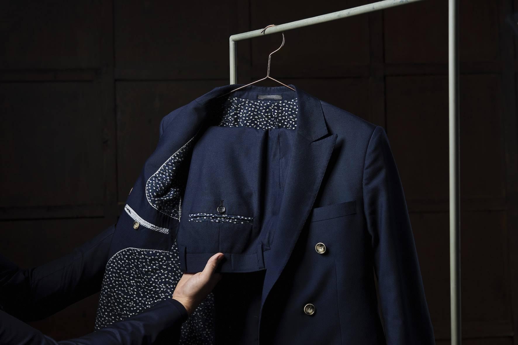 TailorMate | Skræddersyet jakkesæt | blomster fór | navy