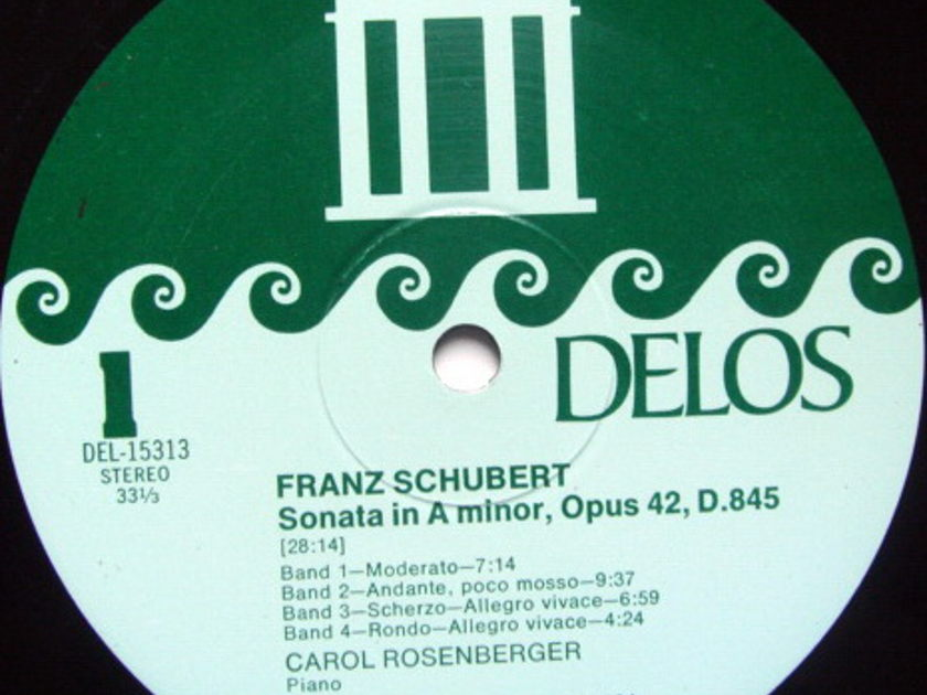 ★Audiophile★ Delos / ROSENBERGER, - Schubert Piano Sonata & Impromptus, MINT!