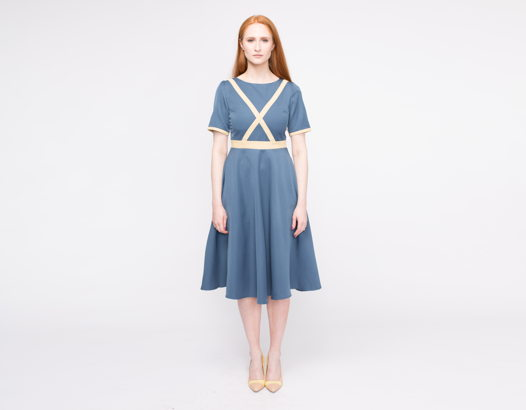 Платье Laura из 100% костюмной шерсти