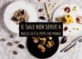 Pelle d'Oca menu senza glutine di pesce, risotto con cozze, salmone in crosta con pepe sansho e ceviche di capasanta