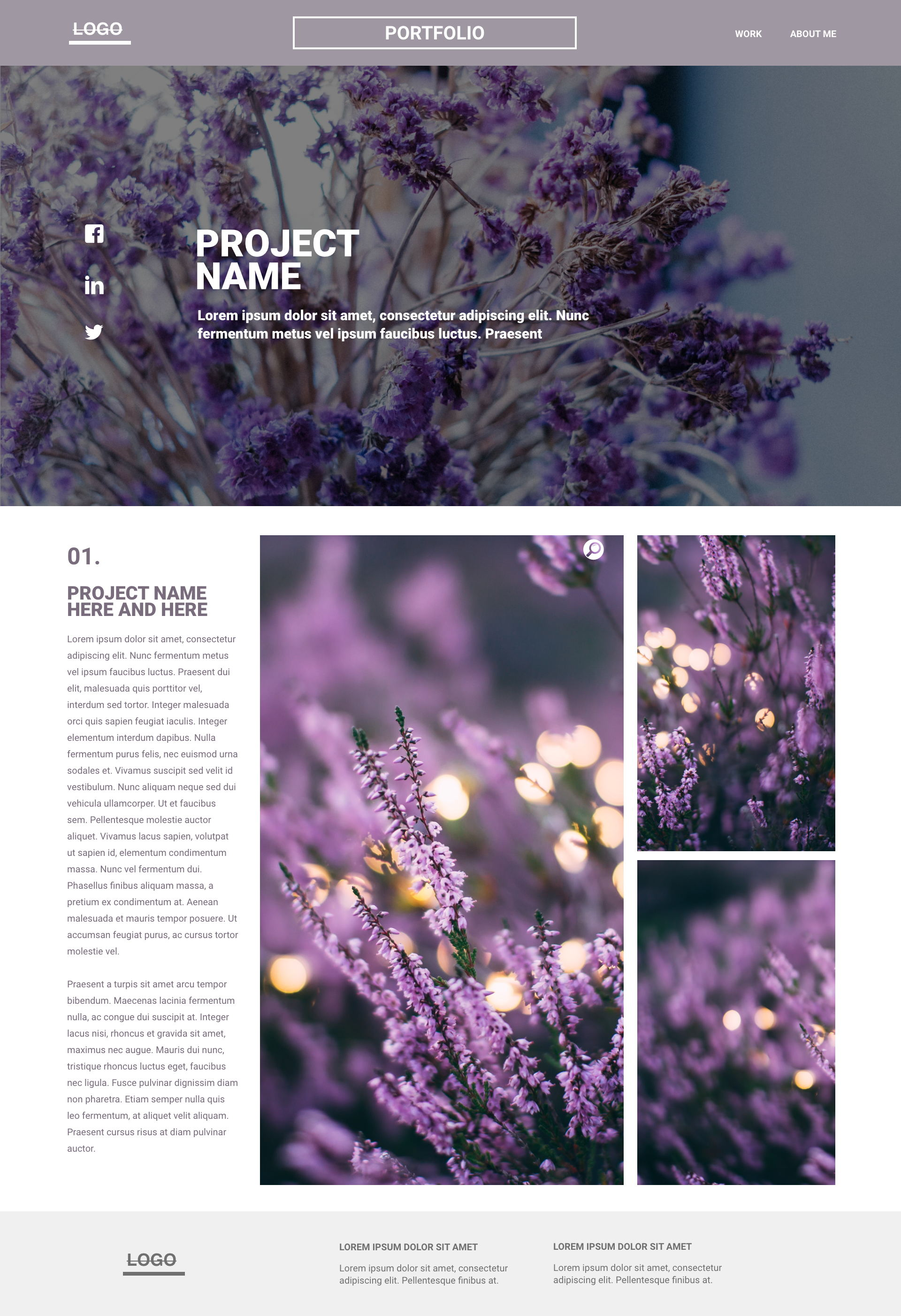 Lavender template's gallery image