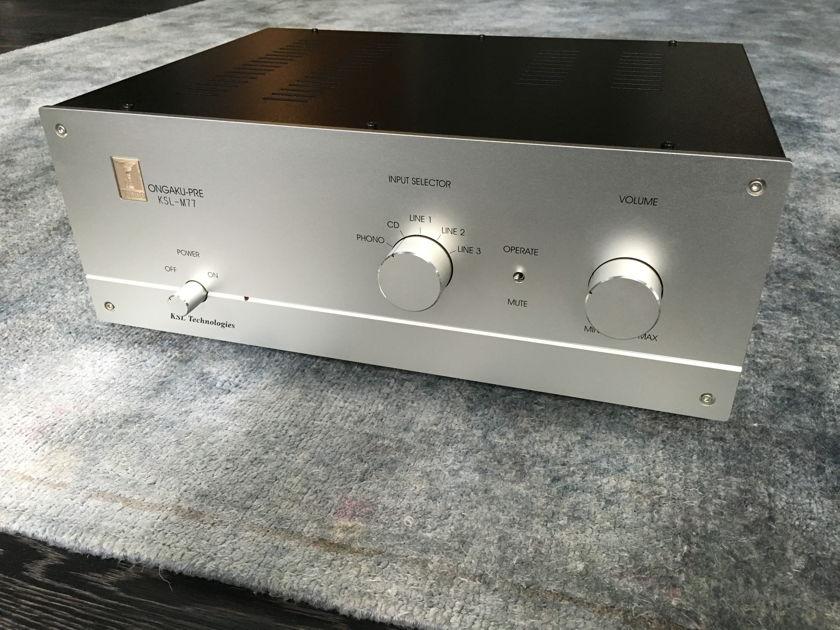 Kondo AudioNote Japan KSL-M77 Ongaku Pre with phono - As New