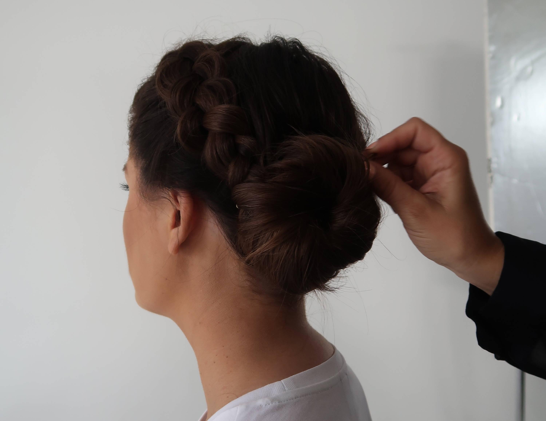 Ballerina bun and side braid tutorial Davines