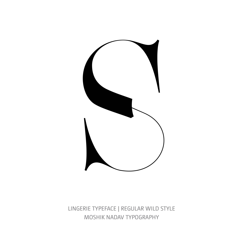 Lingerie Typeface Regular Wild S