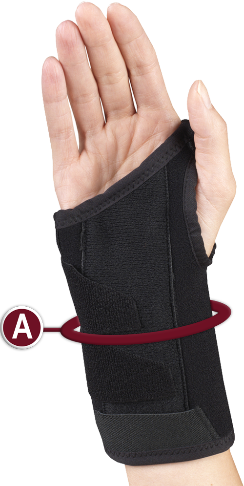 WRIST SPLINT MEASURING LOCATION