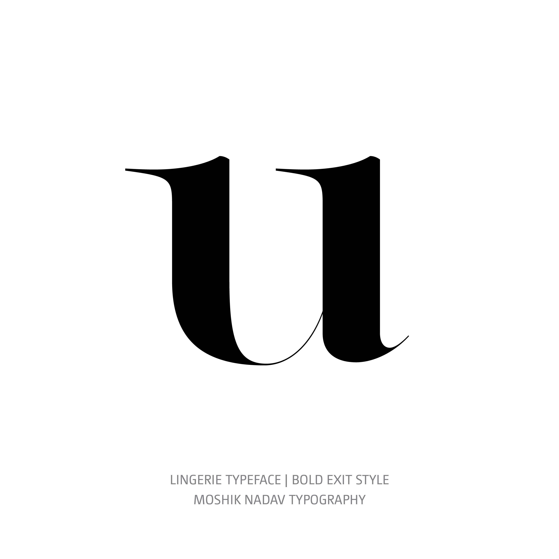 Lingerie Typeface Bold Exit u