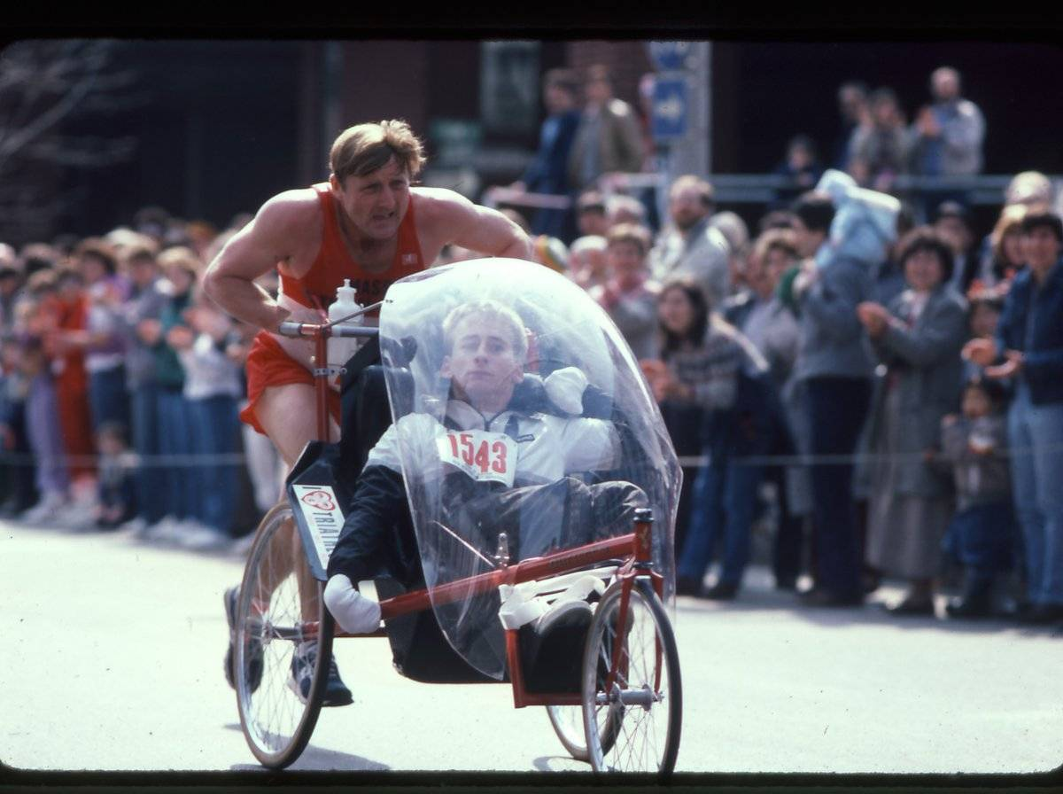 Rick & Dick Hoyt at the Boston Marathon