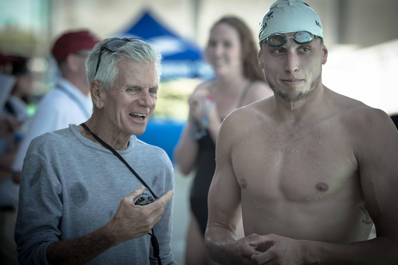 Swim coach Jack Roach