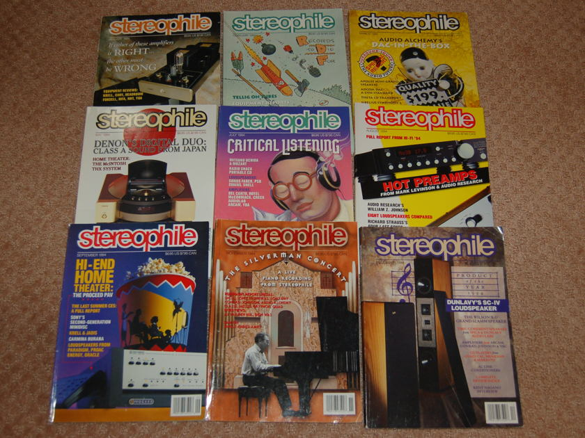 Stereophile magazine - 1994 Only 9 issues