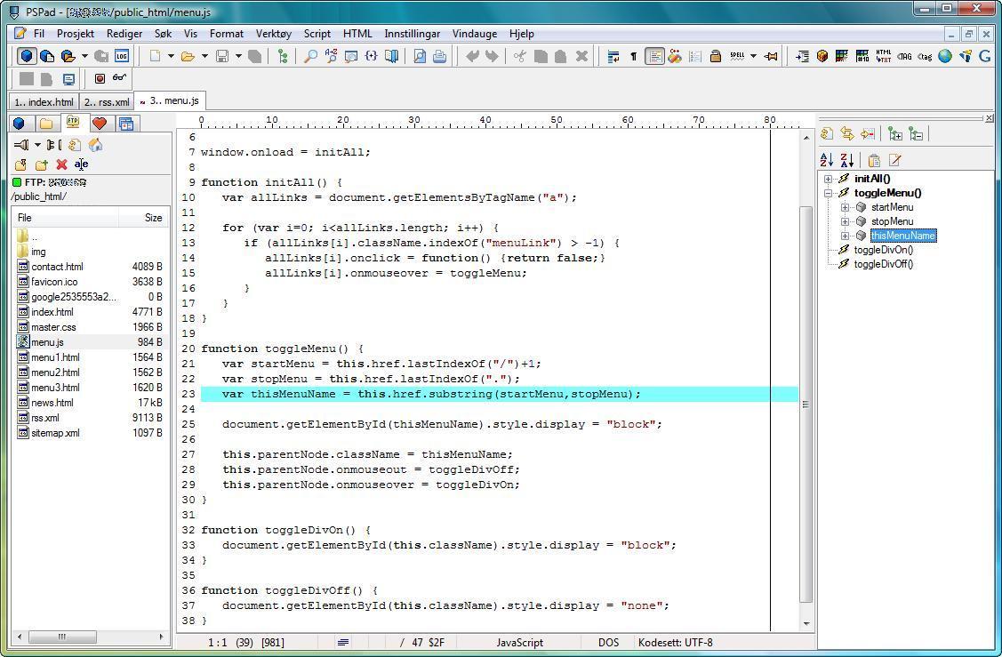 PSPad vs Visual Studio Code detailed comparison as of 2019