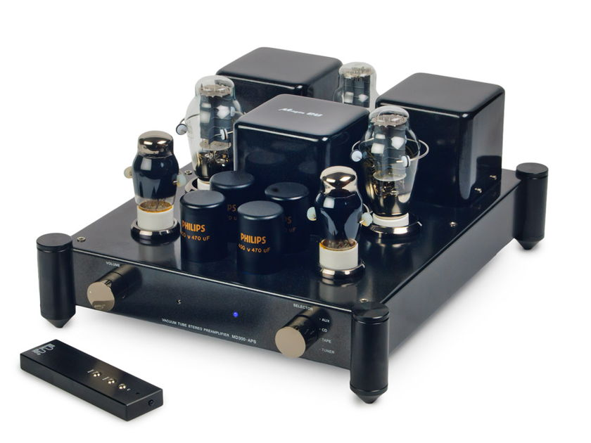 Ming Da 300B / 2A3 Preamp MC 300 APS - upgraded Preamp 6SN7 Stage 1 tubes, 5U4G Rectifier, remote Warranty