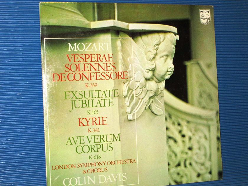 "MOZART / Davis / LSO Orch & Chorus  - ""Vesperae Solennes De Confessore K.339"" -  Philips 1972 Dutch Pressing SEALED"