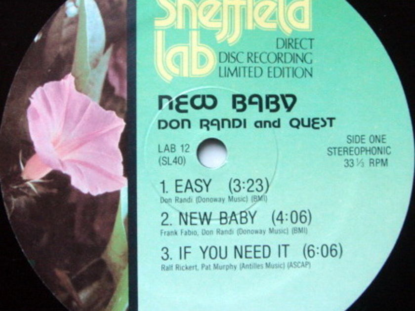 ★Audiophile★ Sheffield Lab / DON RANDI & QUEST, - New Baby, MINT!