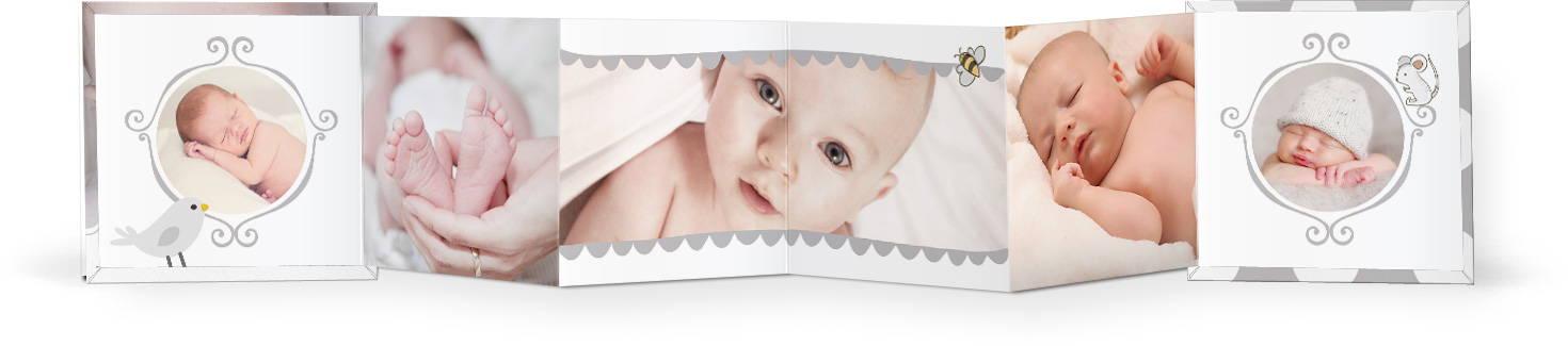 Little Lamb Mini Accordion Book Photoshop Templates