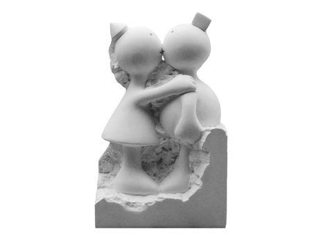 Captive Kissing Couple, by Tom Otterness