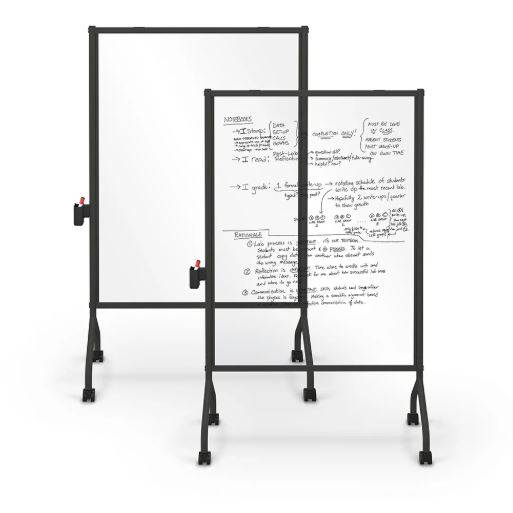MOORECO CLEAR MOBILE DRY-ERASE BOARD