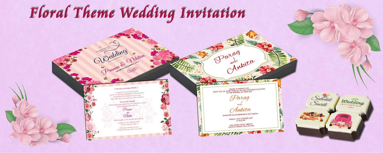 Floral Theme Wedding Invitation – CHOCOCRAFT