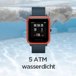 Amazfit Bip S - 5 ATM Wasserfestigkeit