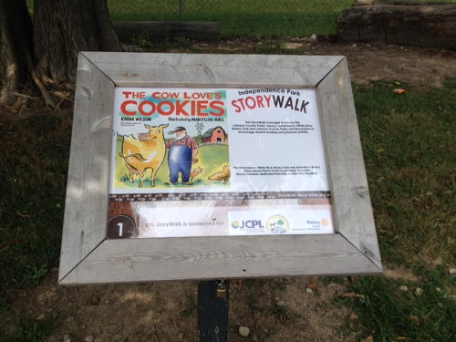 The Cow Loves Cookies at Independence Park Storywalk
