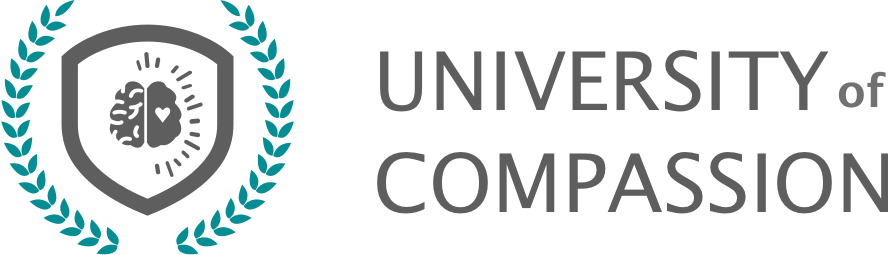 University of compassion icon logo horizontal