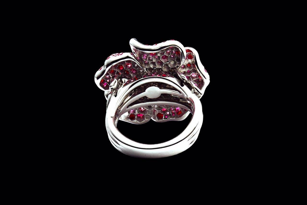 Burmese Rose ring back view yves lemay jewelry