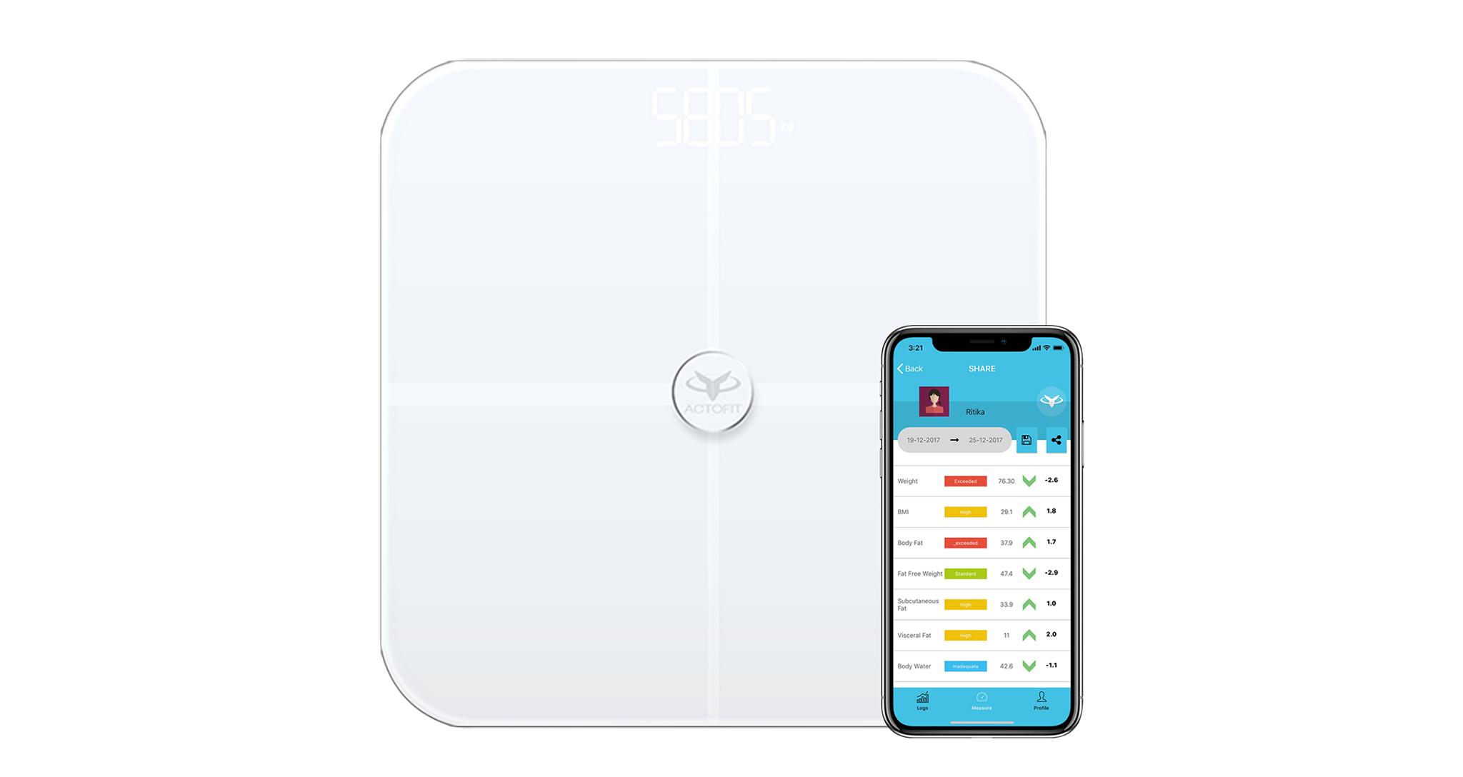 actofit smartscale with iOS app