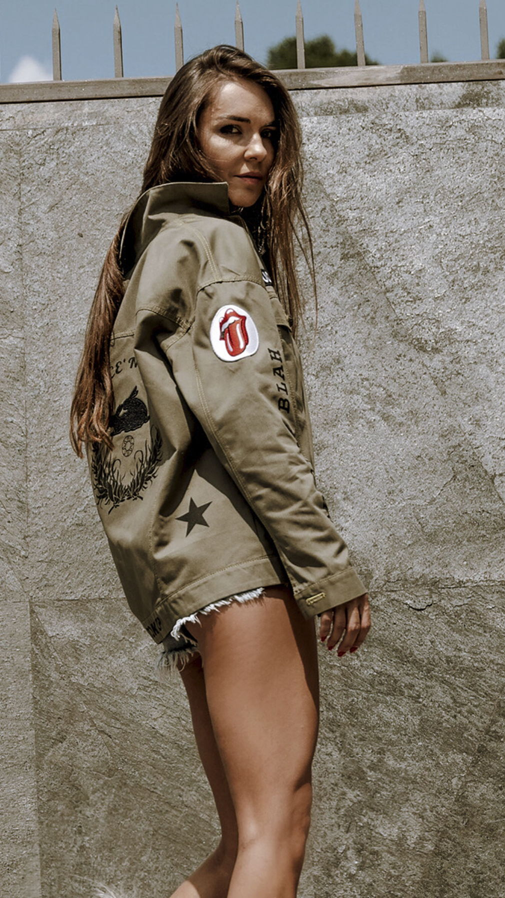 Khaki Rolling Stones Jacket