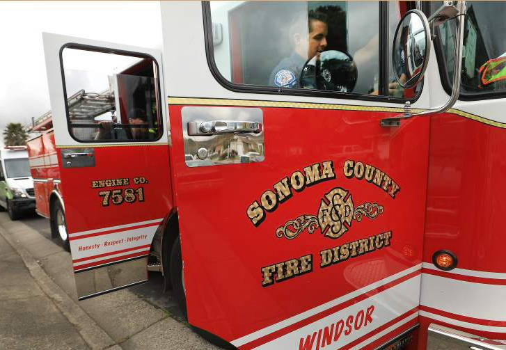 Sonoma County Fire truck with doors open