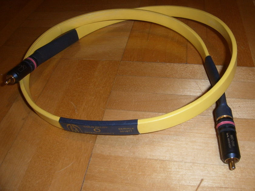 Audio Metallurgy GA-0 1m RCA interconnect 1 CABLE ONLY!