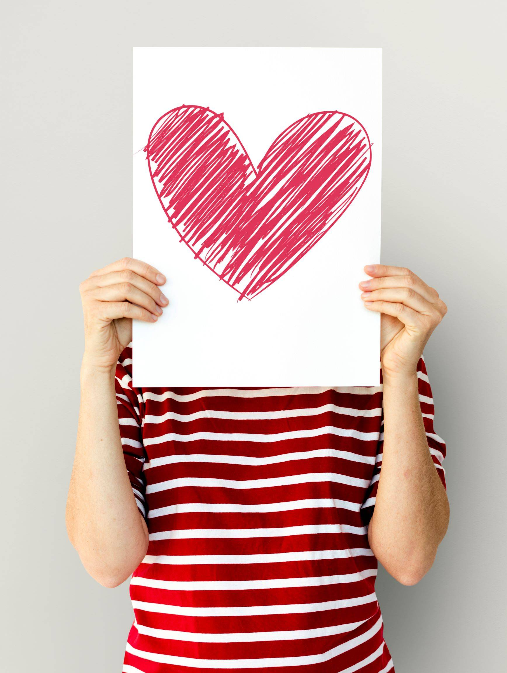 child with heart picture