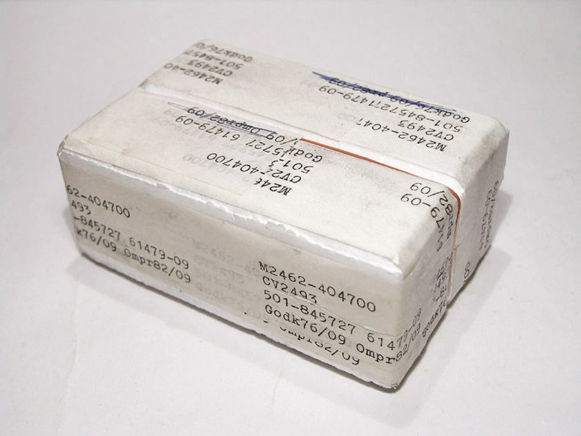 Mullard 6922 / E88CC / CV-2493 brand new pair in Swedish military matched set styrofoam boxes