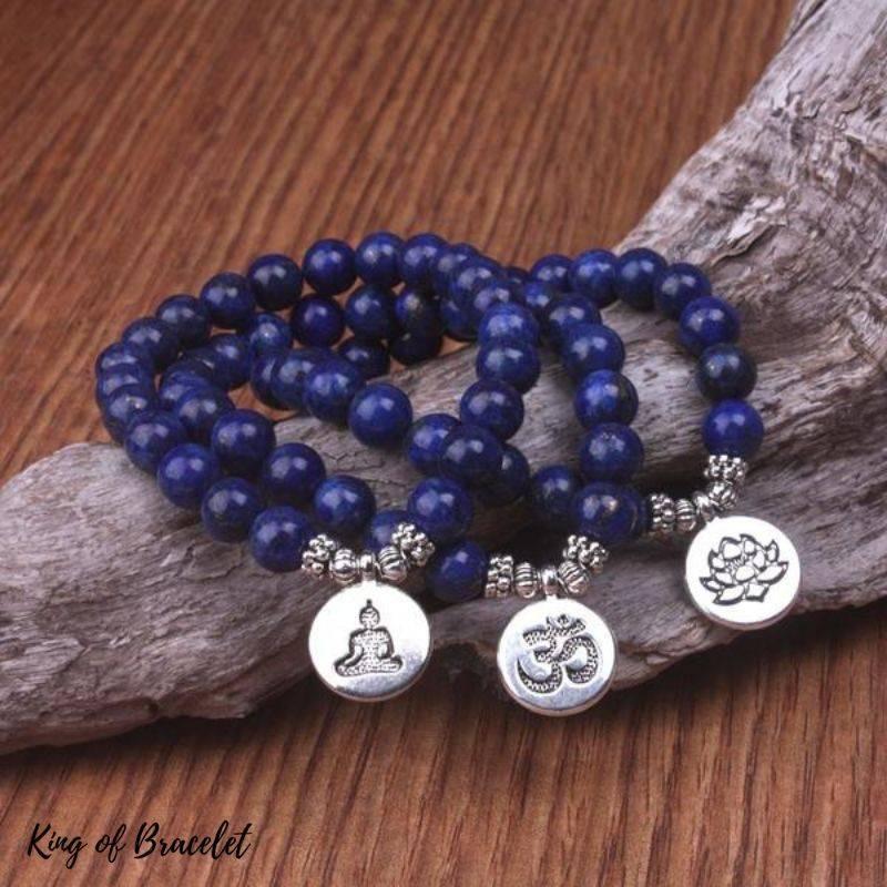 Bracelet Mala en Perles de Lapis Lazuli - King of Bracelet