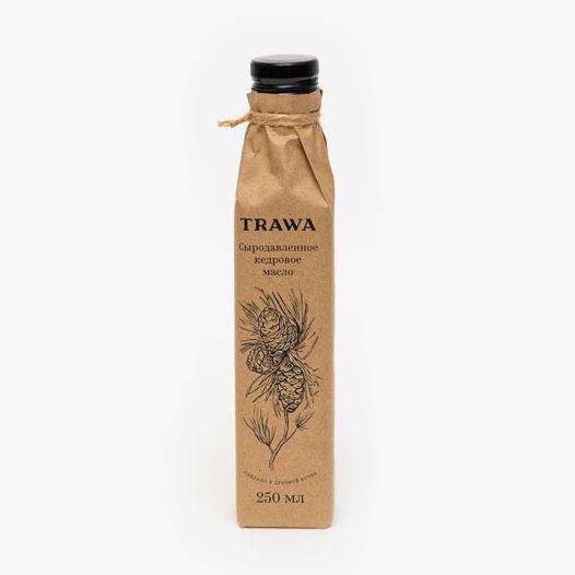 Сыродавленное кедровое масло TRAWA, 250 мл