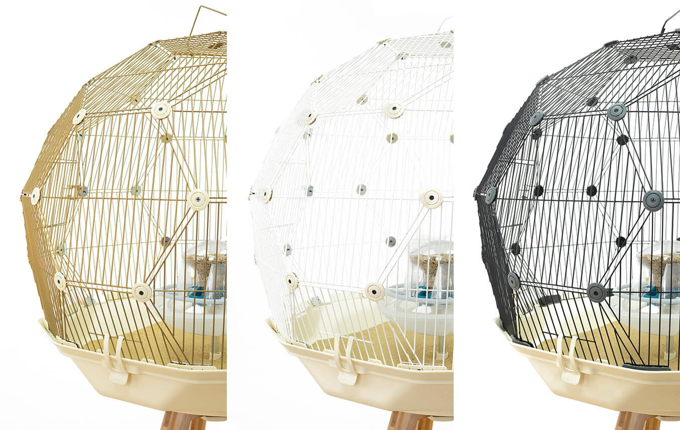 Geo Mesh available in white, gold or black