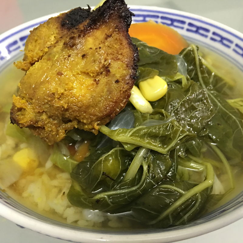 Nov 23rd, 2019 - Ate my pandan chicken with my spinach soup.