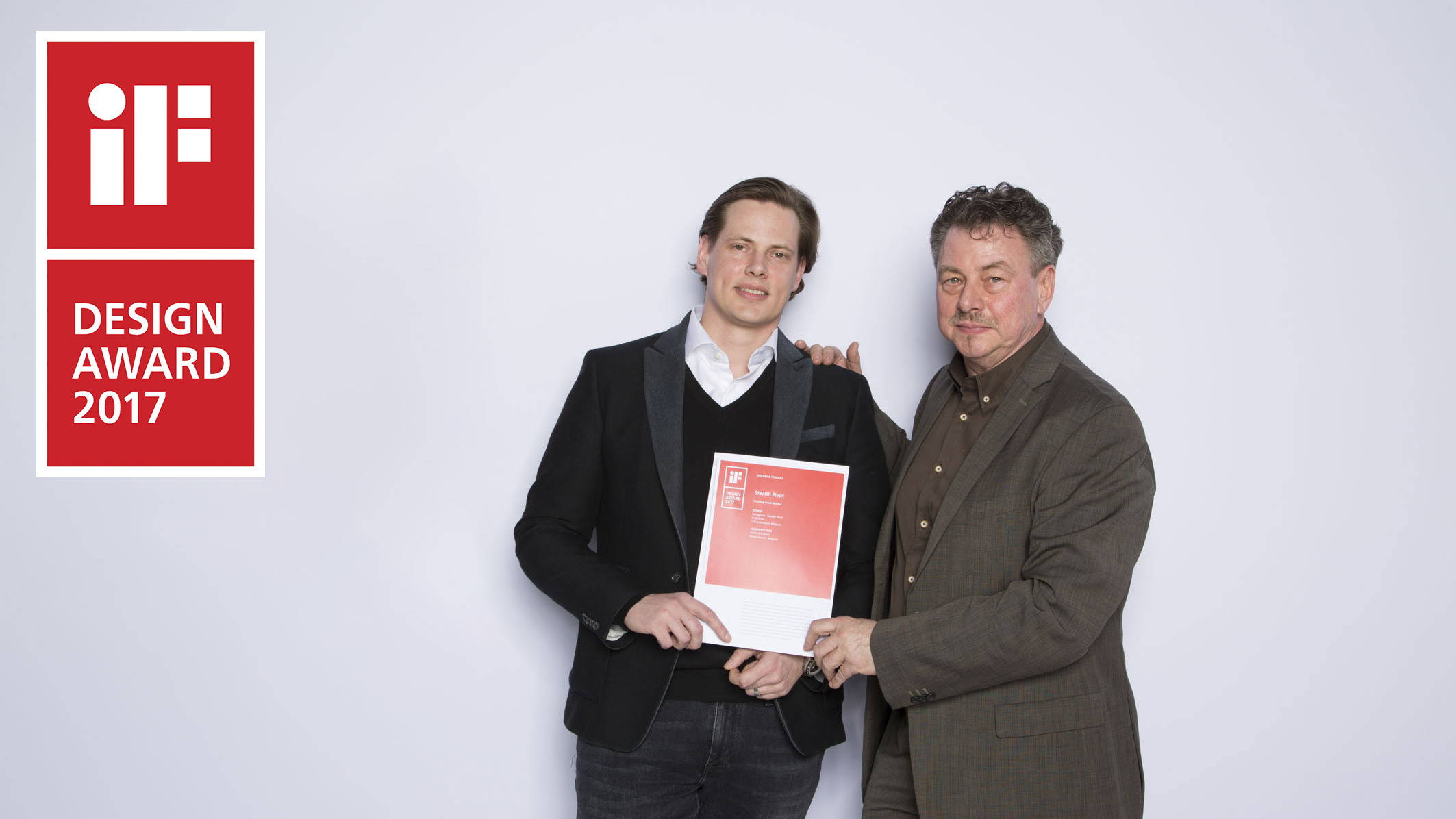 Rudi Dries and Koen Dries at the iF design award 2017