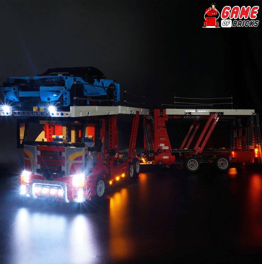 lego night light CAR TRANSPORTER 42098