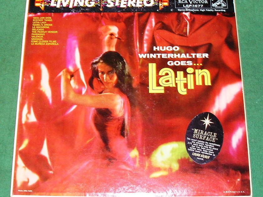 """HUGO WINTERHALTER """"GOES LATIN"""" - 1959 RCA LIVING STEREO ** 9/10 **"""