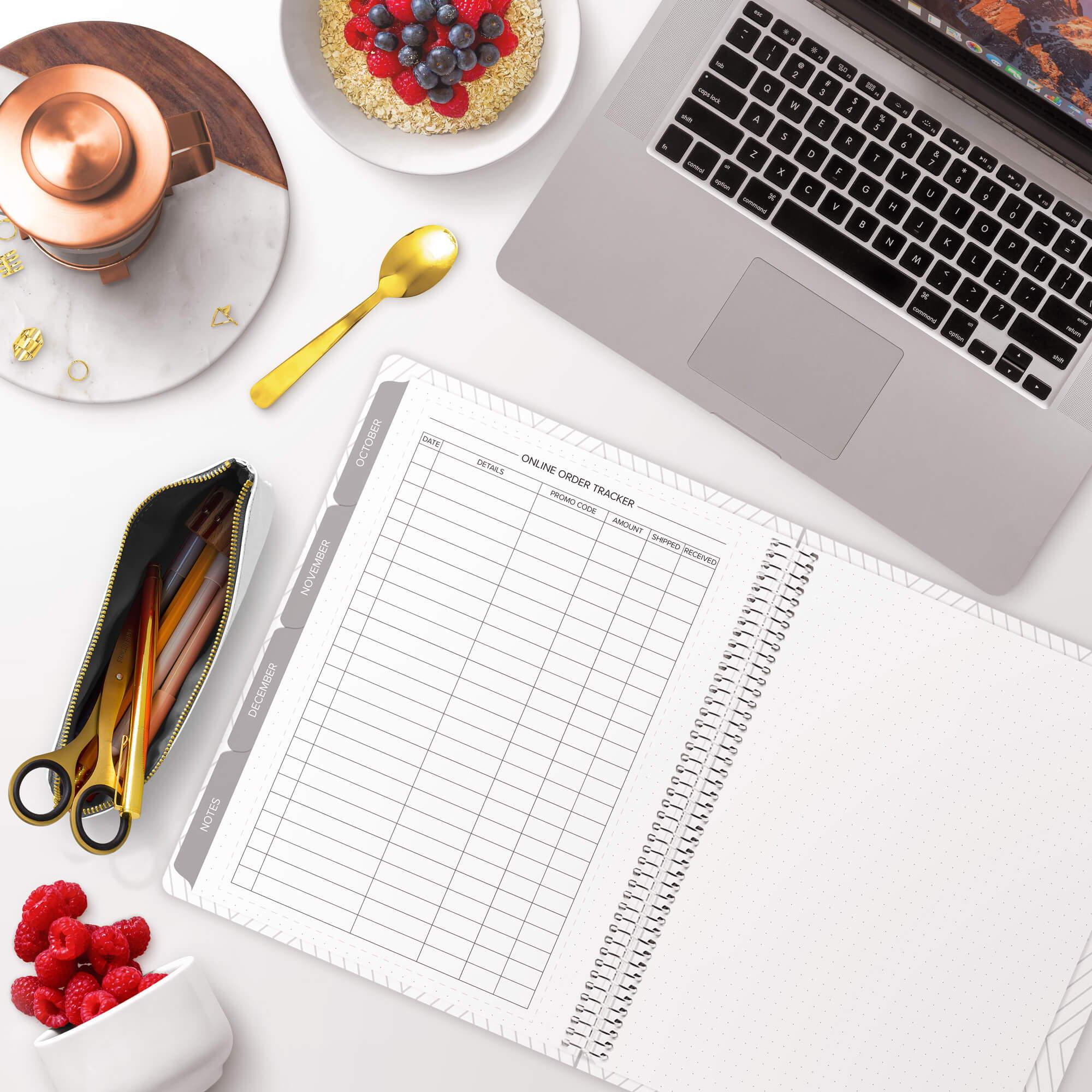 amplify planner online gift tracker insert