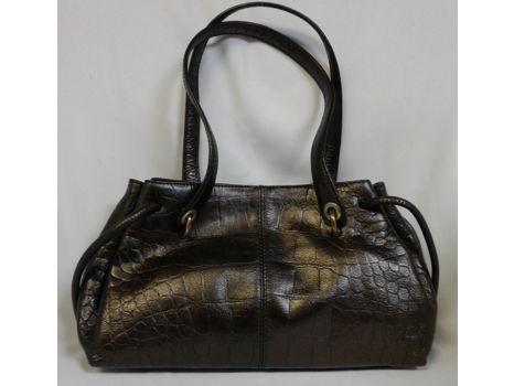 Monsac Textured Crocodile Bag