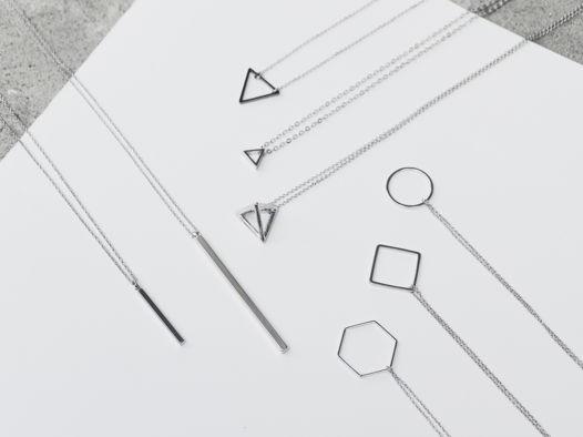 Подвеска [GEOMETRY] палочка / круг / треугольник / ромб